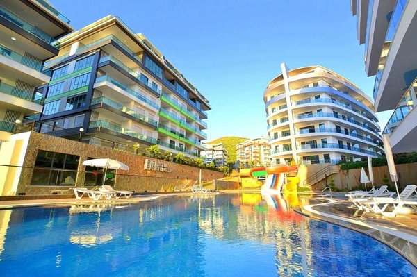 Apartment in Alanya Kargıcak - pool, Turkish bath, sauna, sea view