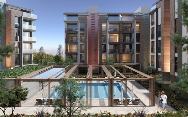 First-class luxury residential complex with indoor pool in Antalya - Konyaaltı