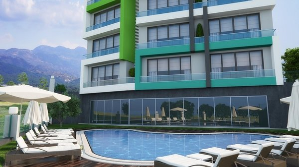 Newly built apartments are located right near the famous Incekum beach in Alanya - Avsallar
