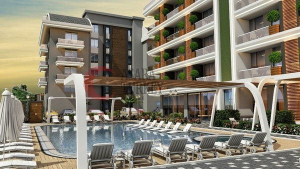 New luxury apartments under construction for sale in Alanya - Oba