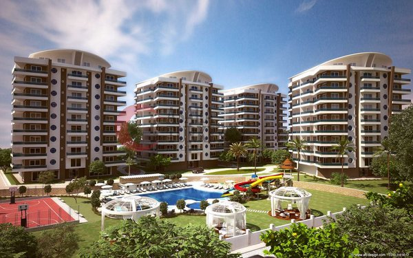Luxury sea and mountain view apartments with exclusive 5 * hotel facilities