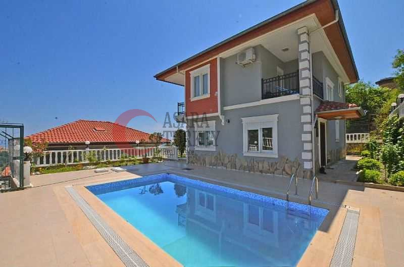 Stunning panoramic sea view Alanya villa with pool