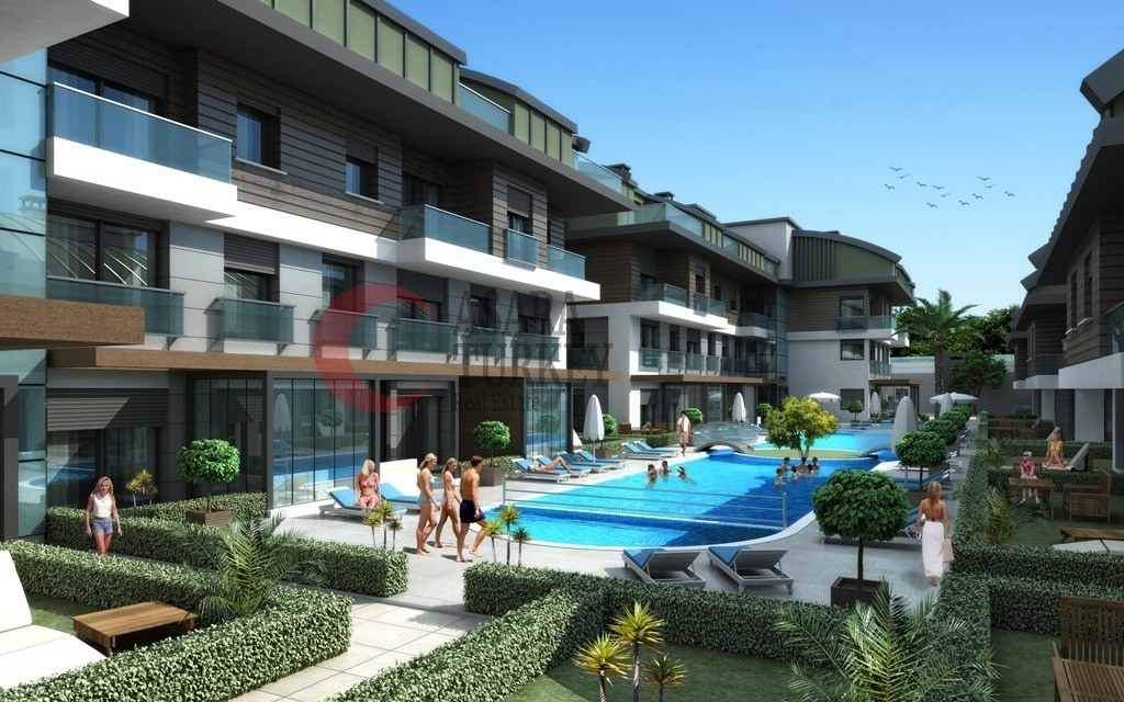 For sale apartments - maisonettes with fitness and sauna, Antalya - Güzeloba