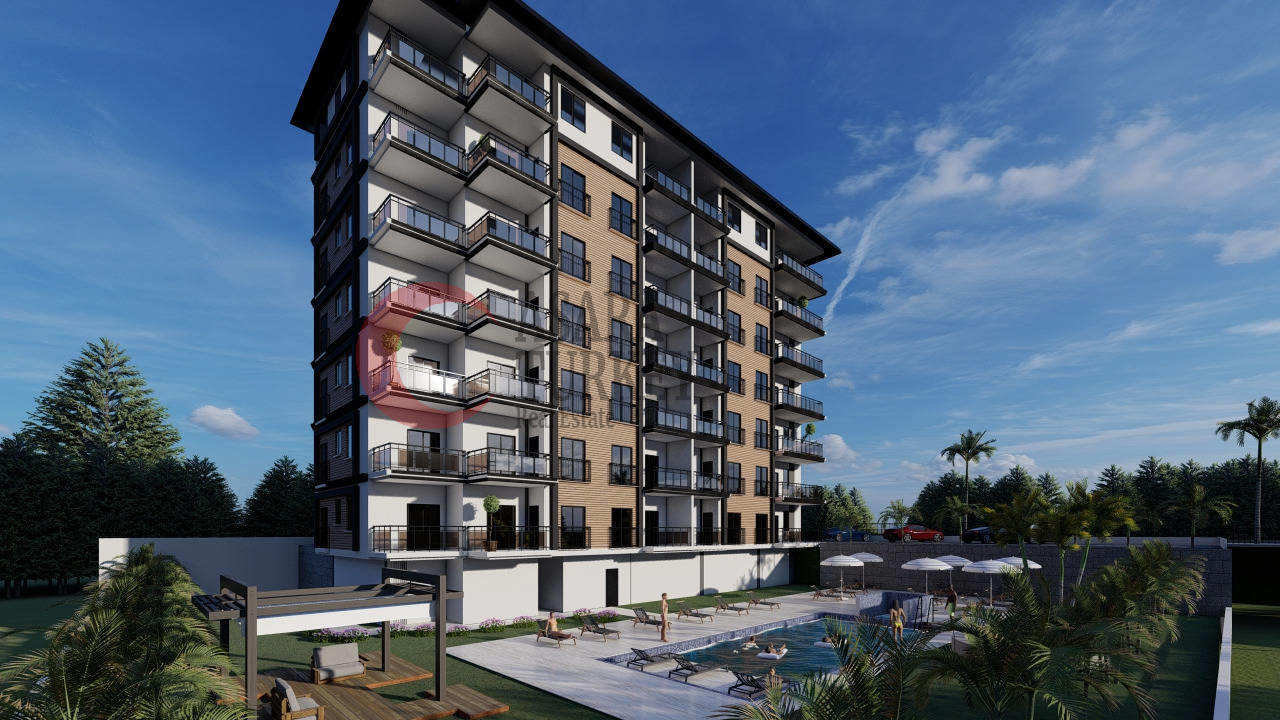 New apartments at a low price - a new residence in the Avsallar area